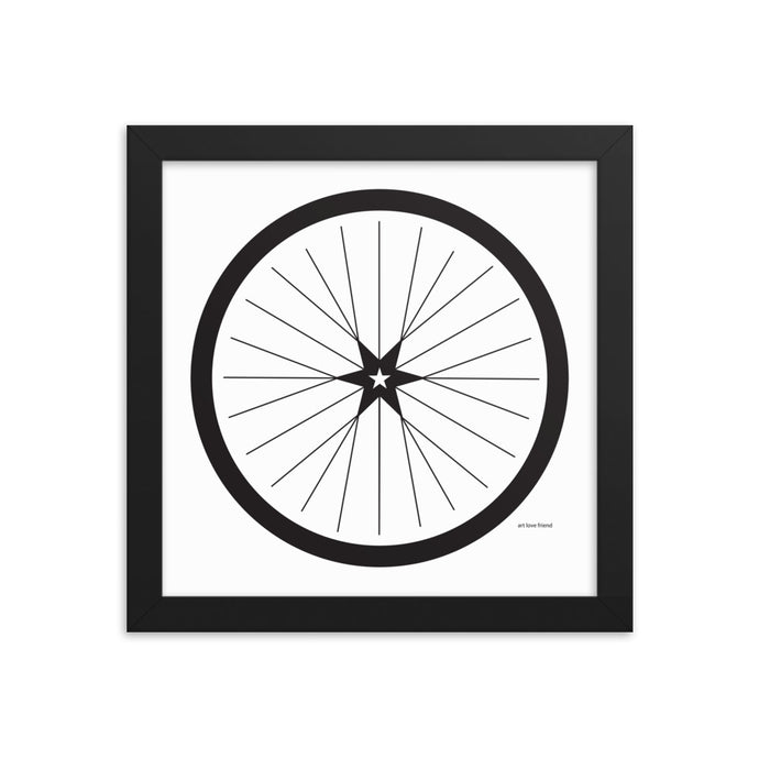 BICYCLE LOVE - Shining Star Wheel Framed Poster - MULTI SIZE OPTIONS