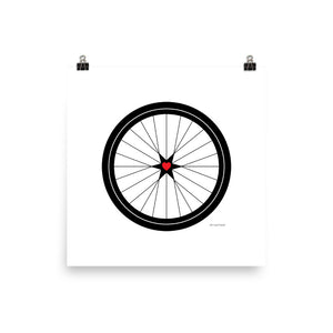 Image of BICYCLE LOVE - Poster - 18 x 18 SIZE OPTION by Art Love Friend.