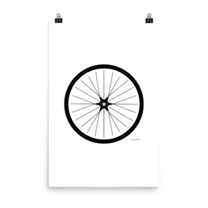 Image of BICYCLE LOVE - Shining Star Wheel Poster - 24 x 35 SIZE OPTION by Art Love Friend.
