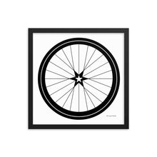 Image of BICYCLE LOVE - Star Wheel Framed poster - 16 x 16 SIZE OPTION by Art Love Friend.