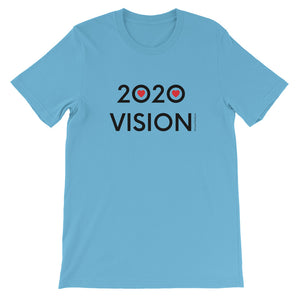 Image of 2020 VISION - Adult Short Sleeve Unisex T-Shirt - OCEAN BLUE COLOR OPTION by Art Love Friend.