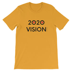 Image of 2020 VISION - Adult Short Sleeve Unisex T-Shirt - MUSTARD COLOR OPTION by Art Love Friend.