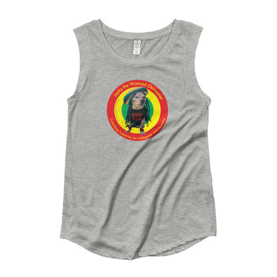 Image of Japhy the Wizened Cheeenie - One Lub - Women's Cap Sleeve T-Shirt - Grey option.