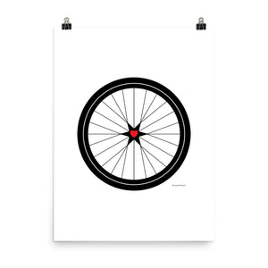 Image of BICYCLE LOVE - Poster - 18 x 24 SIZE OPTION by Art Love Friend.