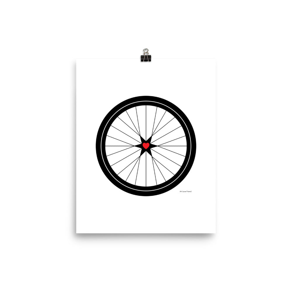 Image of BICYCLE LOVE - Poster - 8 x 10 SIZE OPTION by Art Love Friend.