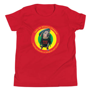 Image of Japhy the Wizened Chiweenie - One Lub - Short Sleeve Youth T Shirt - red OPTION by Art Love Friend.