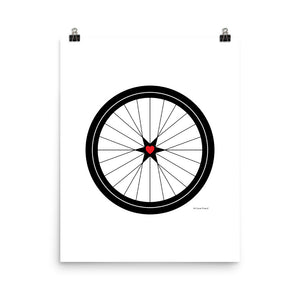 Image of BICYCLE LOVE - Poster - 16 x 20 SIZE OPTION by Art Love Friend.