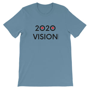 Image of 2020 VISION - Adult Short Sleeve Unisex T-Shirt - STEEL BLUE COLOR OPTION by Art Love Friend.