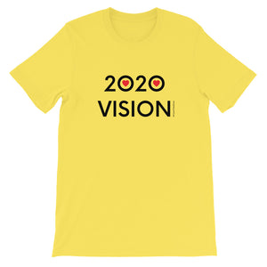 Image of 2020 VISION - Adult Short Sleeve Unisex T-Shirt - YELLOW COLOR OPTION by Art Love Friend.