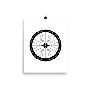 Image of BICYCLE LOVE - Star Wheel poster - 8 x 10 SIZE OPTION by Art Love Friend.