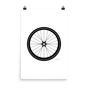 Image of BICYCLE LOVE - Star Wheel poster - 24 x 36 SIZE OPTION by Art Love Friend.