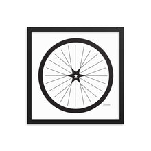 Image of BICYCLE LOVE - Shining Star Wheel Framed Poster - 16 x 16 SIZE OPTION by Art Love Friend.