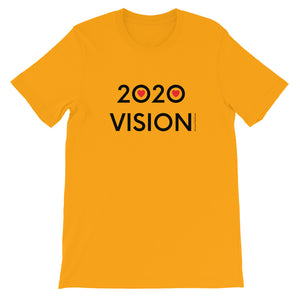 Image of 2020 VISION - Adult Short Sleeve Unisex T-Shirt - GOLD COLOR OPTION by Art Love Friend.