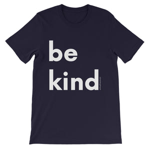 Image of be kind - White Letters - Short-Sleeve Unisex T-Shirt- Navy COLOR OPTION by Art Love Friend.