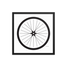 Image of BICYCLE LOVE - Shining Star Wheel Framed Poster - 18 x 18 SIZE OPTION by Art Love Friend.