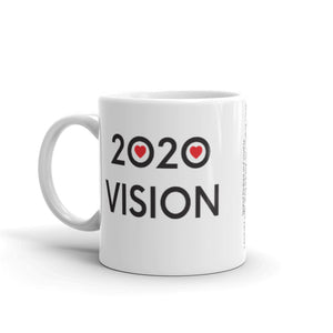 Image of 2020 VISION - 11oz. Mug - SIZE OPTION by Art Love Friend. Handle of left side.