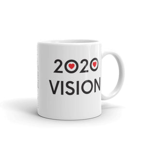 Image of 2020 VISION - 11oz. Mug - SIZE OPTION by Art Love Friend. Handle of right side.