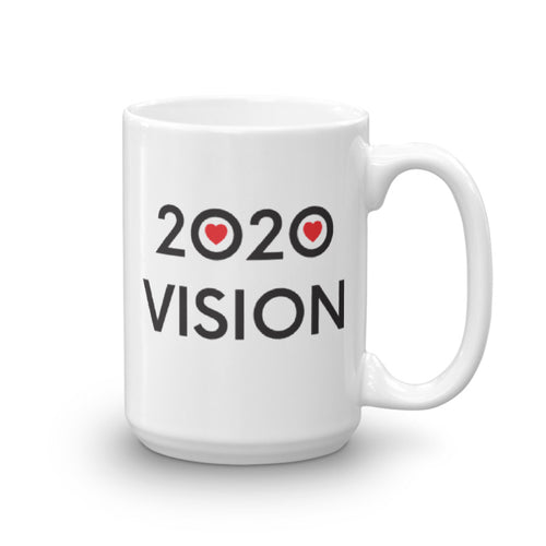 Image of 2020 VISION - 15oz. Mug - SIZE OPTION by Art Love Friend. Handle on right side.