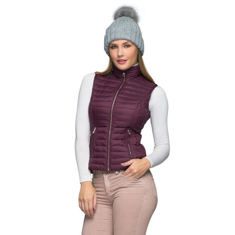 Chaleco Casual de Mujer Color Vino Holly Land