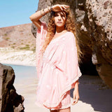 Kaftan Mujer De Playa Holly Land Coral