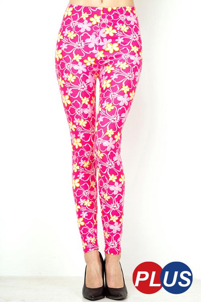 Pink Floral PS Legging