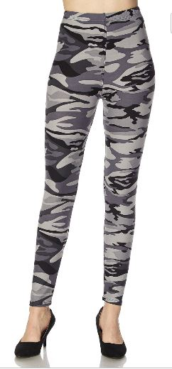 Grey Camo Curvy Legging