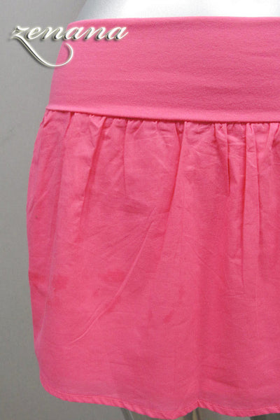Cotton Skirt (Black, Gray, Navy, Pink or White)