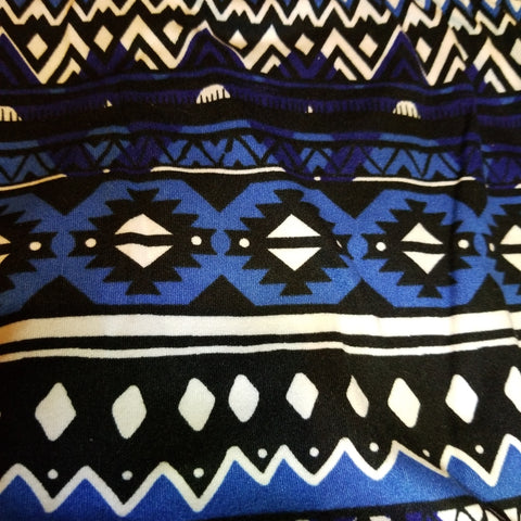 Blue Black White Aztec 3X