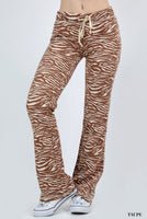 Zebra Print in Brown, Burgundy, Peach, Taupe or White