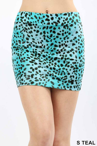 Teal Mini Skirt