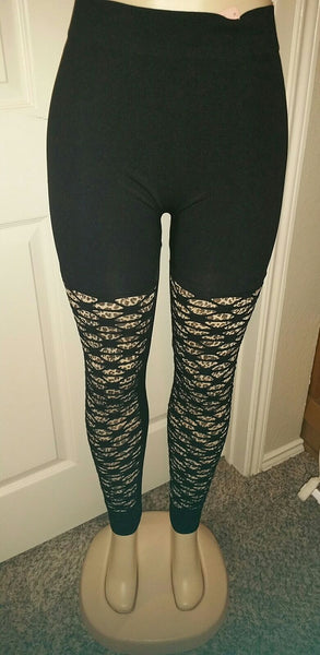 Black Cutout Black Animal OS Legging