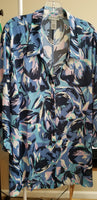 Brush Stroke Button Tunic Top (Size 3x)