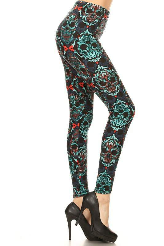 Multi Color Skull Legging