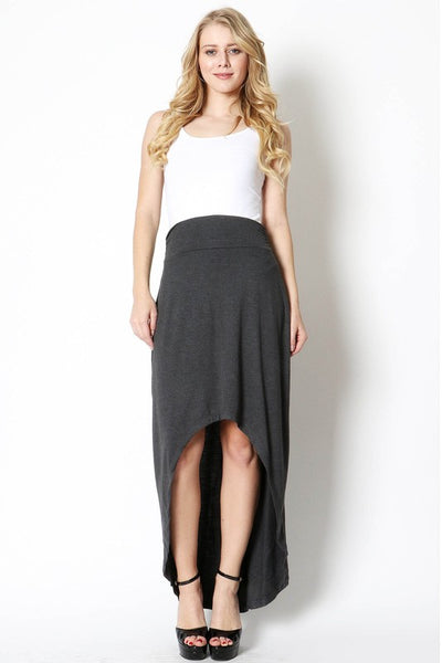 Black or Gray Hi Low Skirt