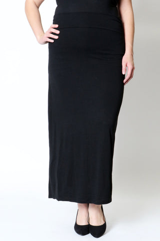 Black Maxi Plus Size Skirt