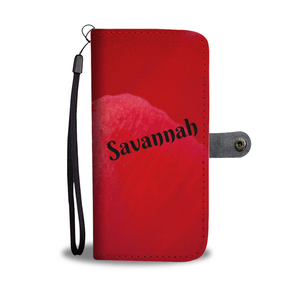 Savannah Red Wallet Case With RFID