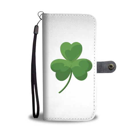 Shamrock Wallet Cell Case With RFID