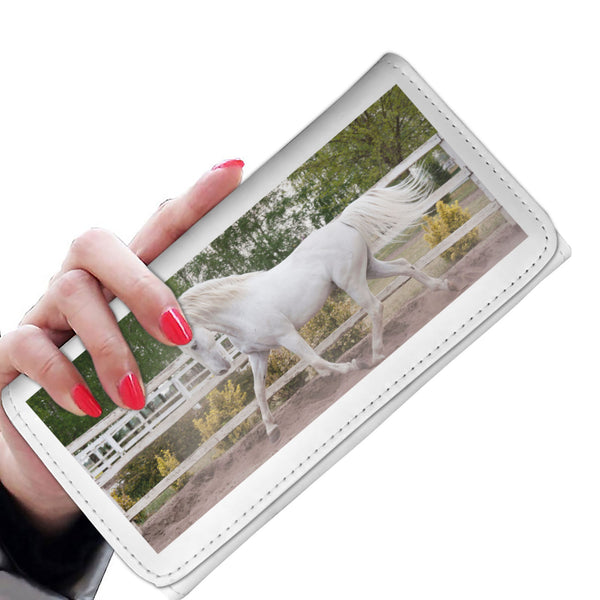 White Horse Wallet With RFID