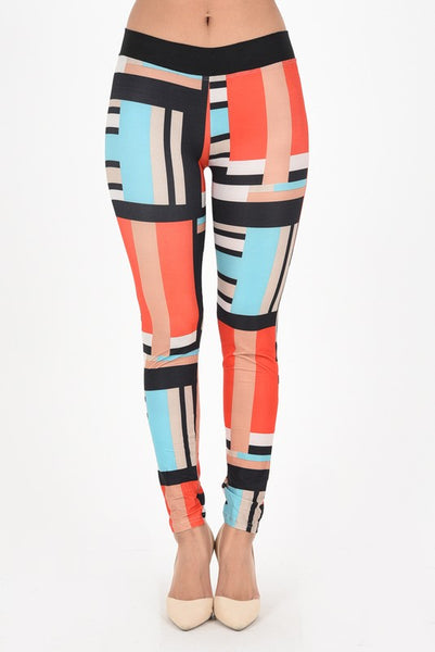 Color Block Yoga Waistband OS Legging