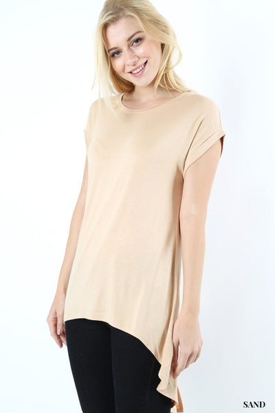Sand Split Dolman Top - Hi Low