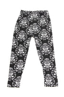 Kids B & W Pattern Leggings