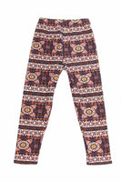 Kids Swirl Aztec Pattern Leggings