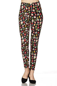 Red Christmas Multi Kids Legging