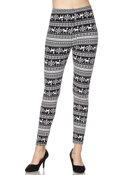 Black Snowflake Kids Legging