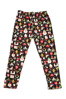 Black Christmas Multi Kids Legging