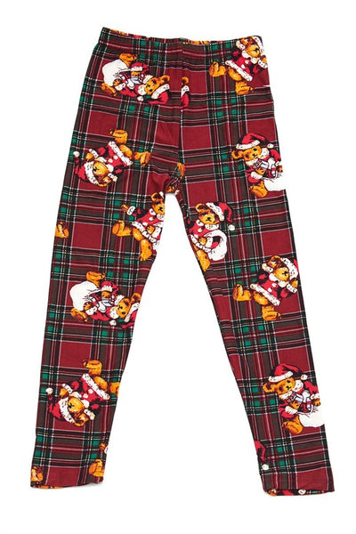 Kids Teddy Bear Christmas Legging