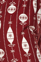 Burgundy Ornament Plus Legging