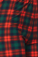 Red and Green Plaid Plus Legging