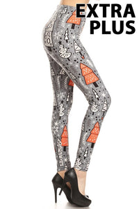 Gray Trees Extra Plus Legging 3x-4x