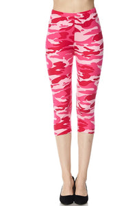 Pink Camo Capri PS Legging